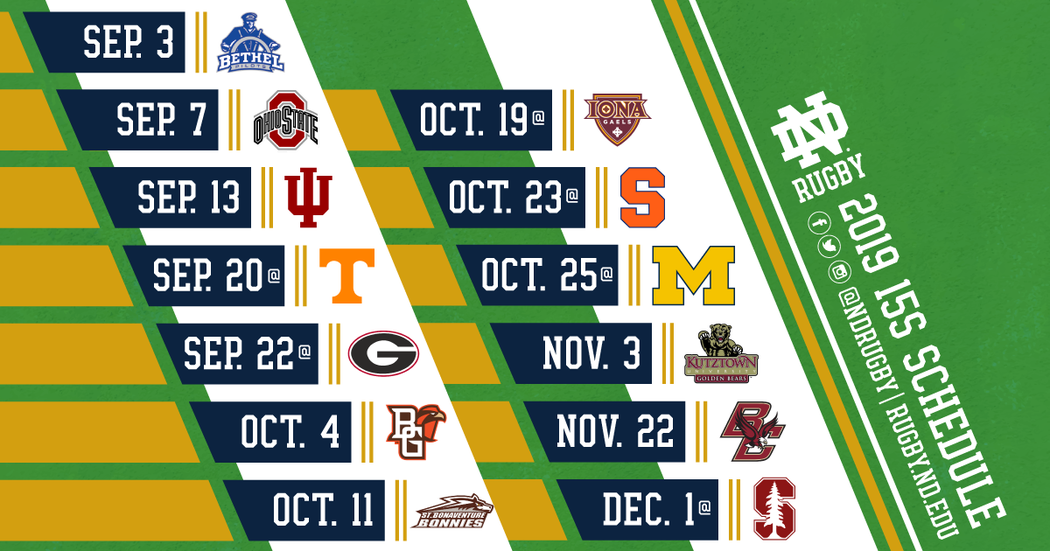 Notre Dame Men S Rugby 15s Schedule Fall 2019 Facebook 1200 Px X 630 Px