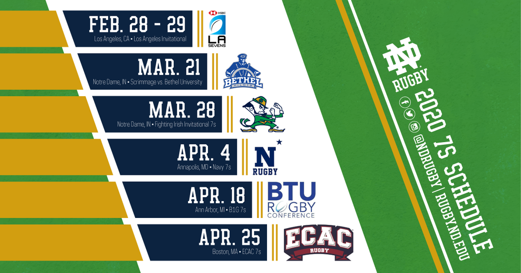 Notre Dame Men S Rugby 7s Schedule Spring 2020 Facebook 1200 Px X 630 Px